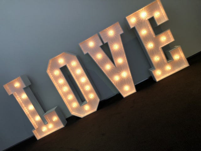 4ft Light up Love Letters
